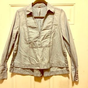 Free People chambray top